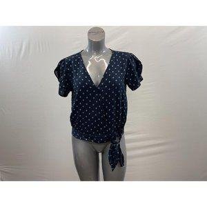 George Women's Wrap Blouse Size Large Blue